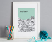 Load image into Gallery viewer, Personalised Nottingham Print-1