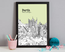 Load image into Gallery viewer, Personalised Perth Print-3