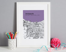 Load image into Gallery viewer, Personalised Portsmouth Graduation Gift