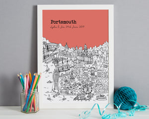 Personalised Portsmouth Print-5