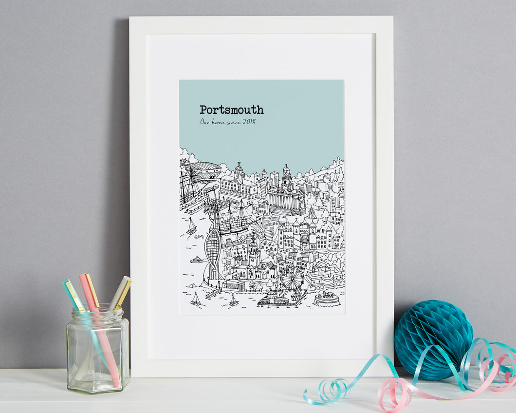 Personalised Portsmouth Print-1