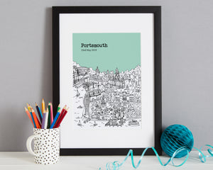 Personalised Portsmouth Print-3