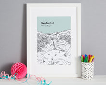 Load image into Gallery viewer, Personalised Santorini Print-1