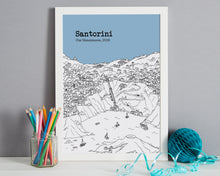 Load image into Gallery viewer, Personalised Santorini Print-6