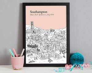 Personalised Southampton Graduation Gift