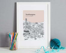 Load image into Gallery viewer, Personalised Southampton Print-1