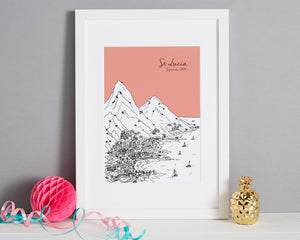 Personalised St Lucia Print-1