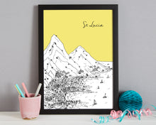 Load image into Gallery viewer, Personalised St Lucia Print-7