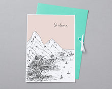 Load image into Gallery viewer, Personalised St Lucia Print-4
