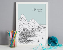 Load image into Gallery viewer, Personalised St Lucia Print-6