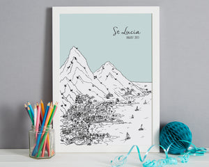 Personalised St Lucia Print-6