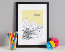 Load image into Gallery viewer, Personalised St Lucia Print-3