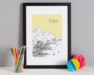 Personalised St Lucia Print-3