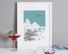 Load image into Gallery viewer, Personalised St Lucia Print-5