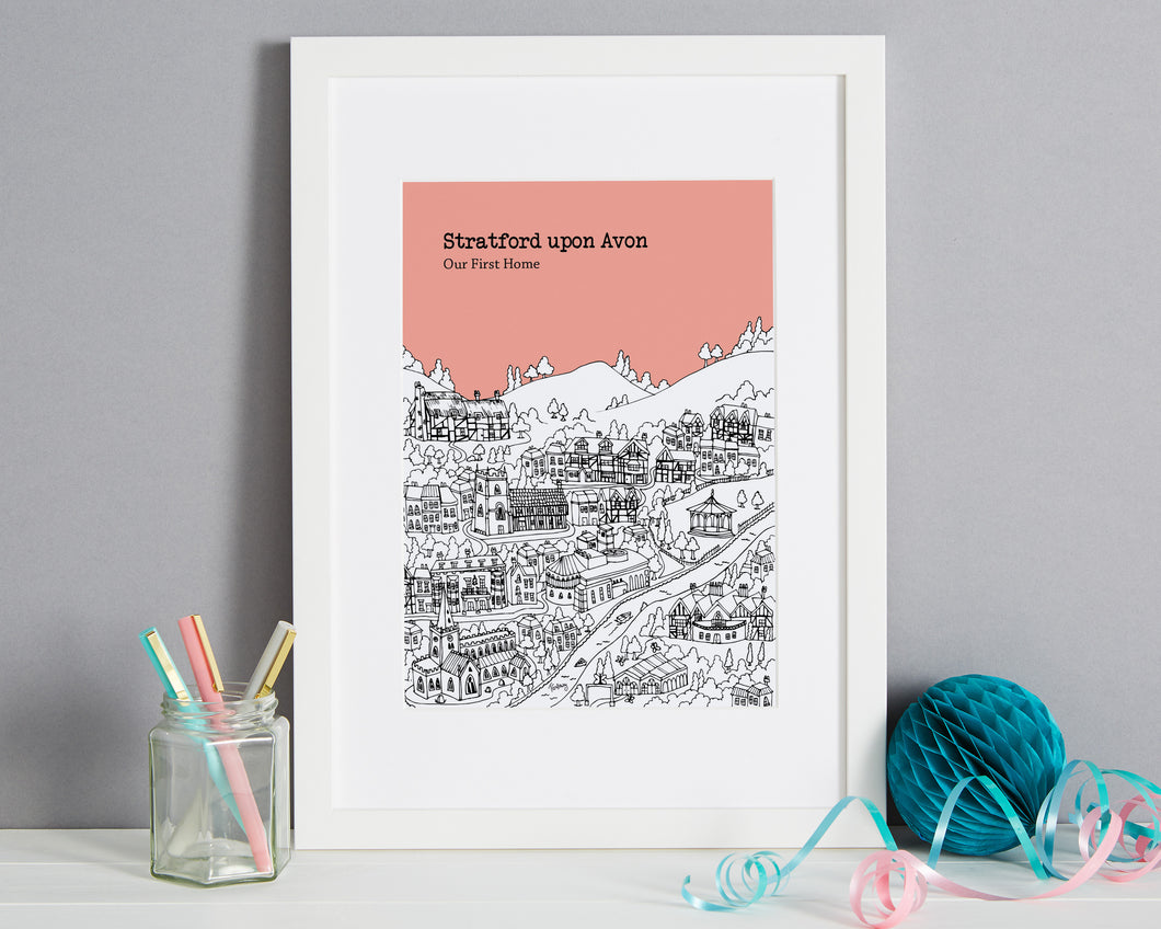 Personalised Stratford upon Avon Print-1