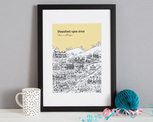 Personalised Stratford upon Avon Print-5