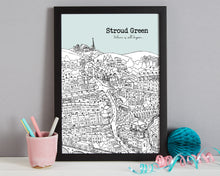 Load image into Gallery viewer, Personalised Stroud Green Print-8