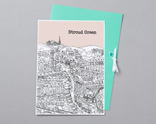 Load image into Gallery viewer, Personalised Stroud Green Print-4
