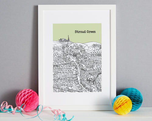 Personalised Stroud Green Print-1