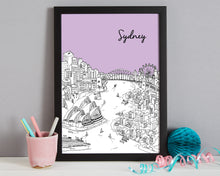 Load image into Gallery viewer, Personalised Sydney Print-7