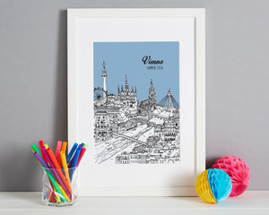 Personalised Vienna Print-4