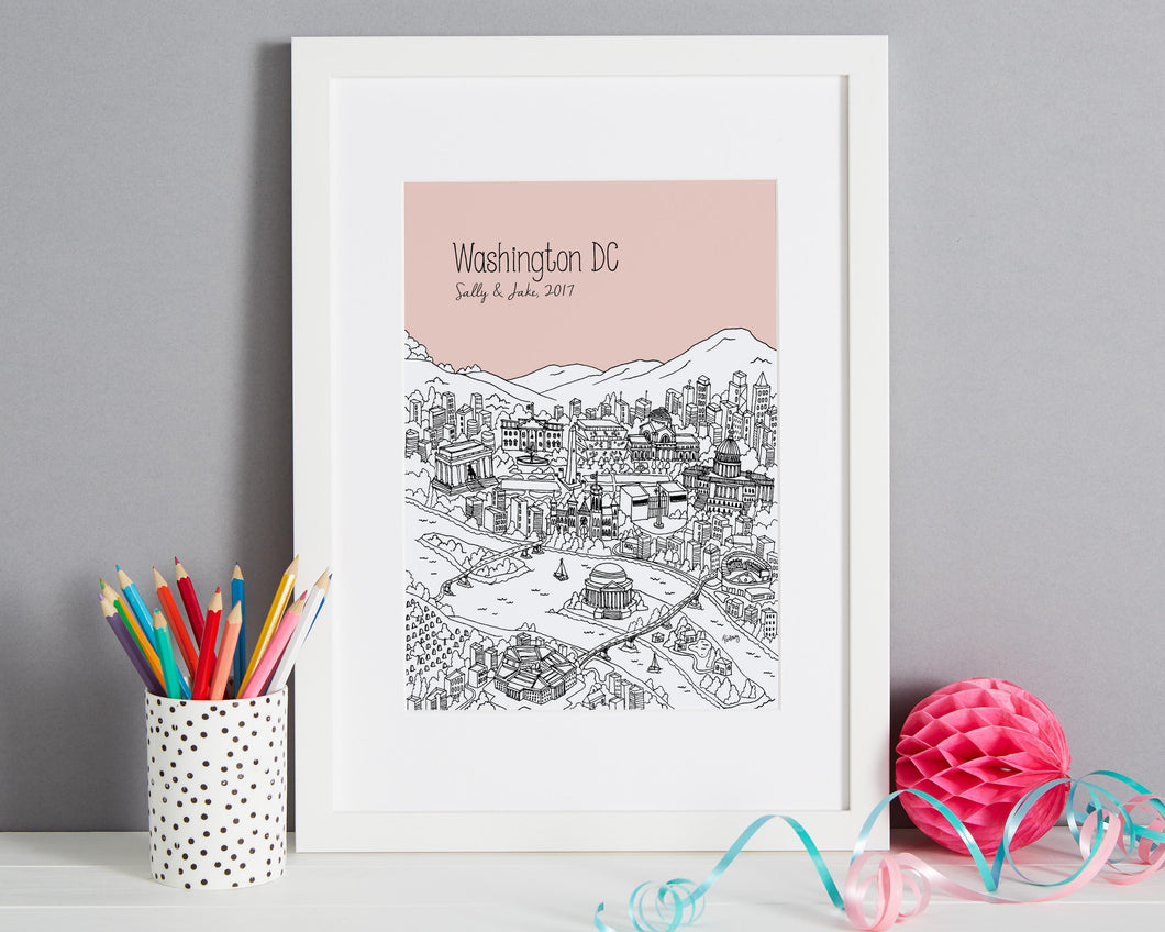 Personalised Washington DC Print-1