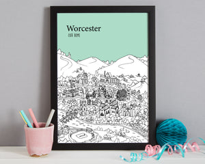 Personalised Worcester Print-5