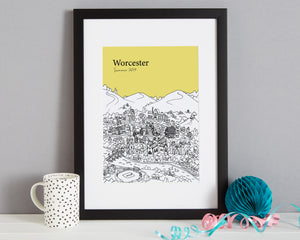 Personalised Worcester Print-3