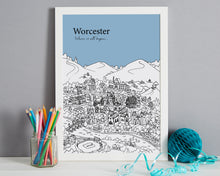Load image into Gallery viewer, Personalised Worcester Print-8