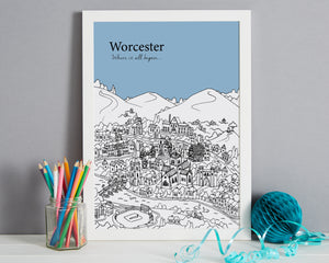 Personalised Worcester Print-8