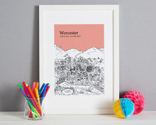 Load image into Gallery viewer, Personalised Worcester Print-7