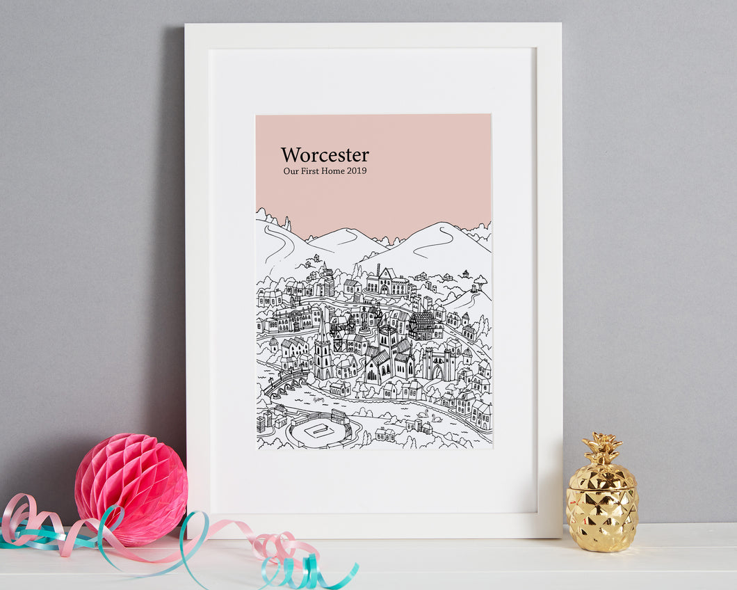 Personalised Worcester Print-1