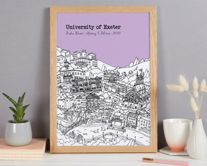 Personalised Exeter Graduation Gift