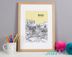 Personalised Exeter Print