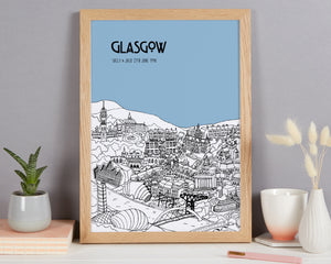 Personalised Glasgow Print