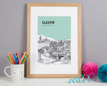 Load image into Gallery viewer, Personalised Glasgow Print