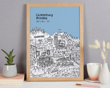 Load image into Gallery viewer, Personalised Glastonbury Print