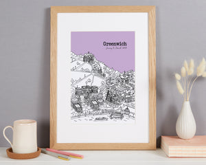 Personalised Greenwich Print
