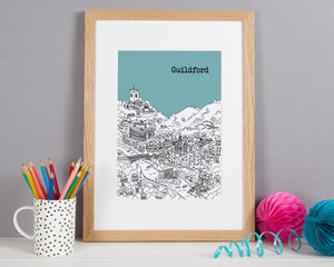 Personalised Guildford Print