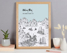 Load image into Gallery viewer, Personalised Halong Bay Print