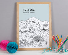 Load image into Gallery viewer, Personalised Isle of Man Print