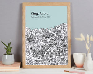 Personalised Kings Cross Print