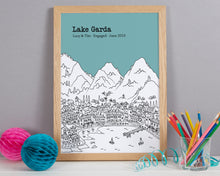 Load image into Gallery viewer, Personalised Lake Garda Print