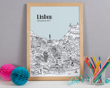 Load image into Gallery viewer, Personalised Lisbon Print