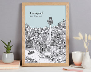 Personalised Liverpool Print