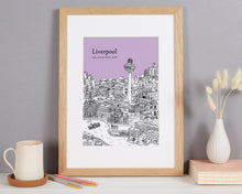 Load image into Gallery viewer, Personalised Liverpool Print