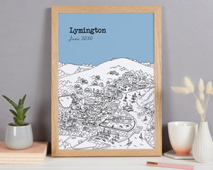 Personalised Lymington Print