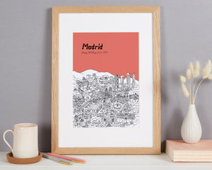 Personalised Madrid Print