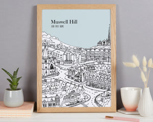 Personalised Muswell Hill Print