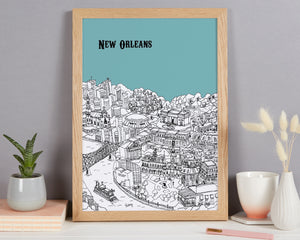 Personalised New Orleans Print